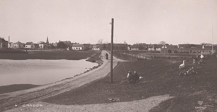 Batterivej omkring 1910.